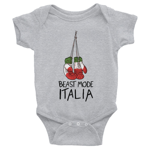 Italia Boxing Gloves Infant Bodysuit