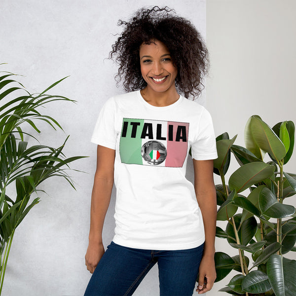 Italia Soccer Ball Short-Sleeve Unisex T-Shirt