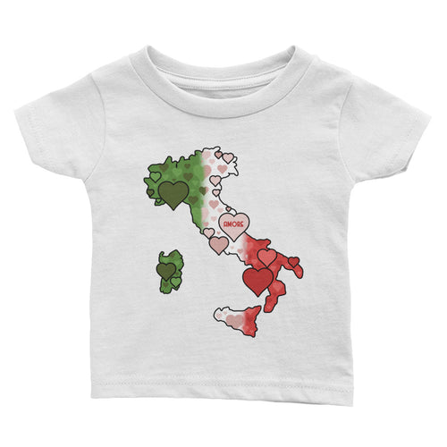 Italian Boot Heart Infant T-shirt