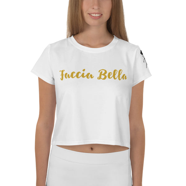 Faccia Bella All-Over Print Crop Tee