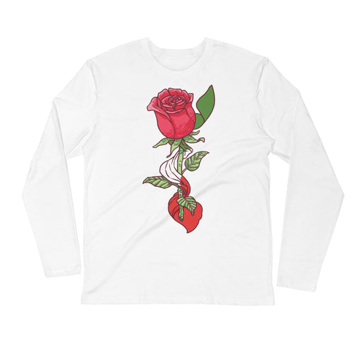 Rose Long Sleeve Fitted Crew
