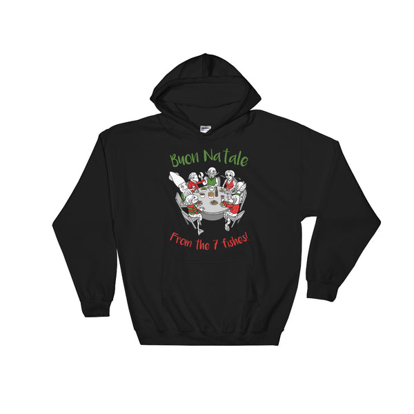 Feast of the 7 fishes, Italian Christmas Hoodie