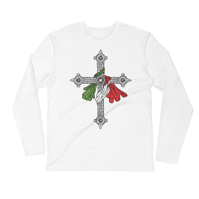 Crucifix Long Sleeve Fitted Crew