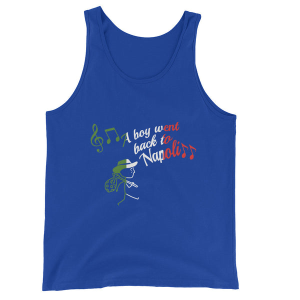 A Boy Went Back To Napoli Tank - Flag Print