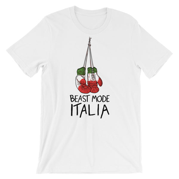 Italia Boxing Gloves Short-Sleeve Unisex T-Shirt