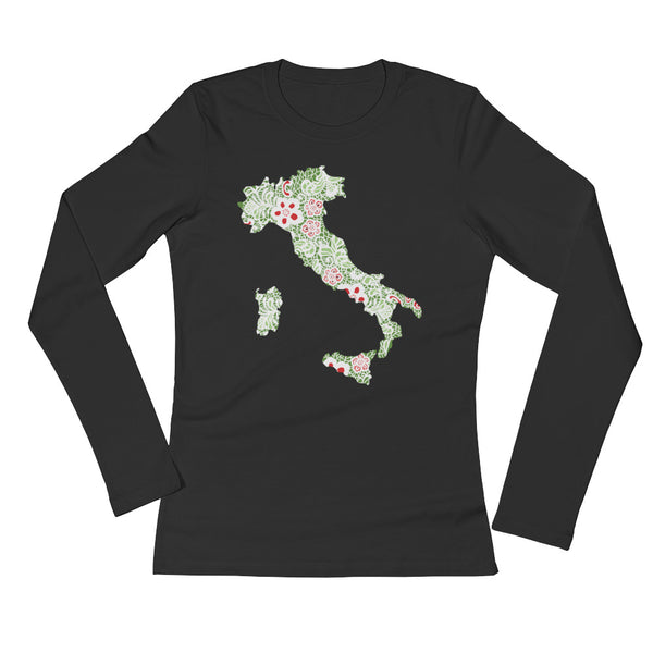 Italian Boot Ladies' Long Sleeve T-Shirt