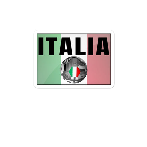 Italia Soccer Bubble-free stickers