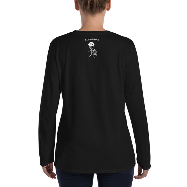 Rose Ladies' BLACK Long Sleeve T-Shirt