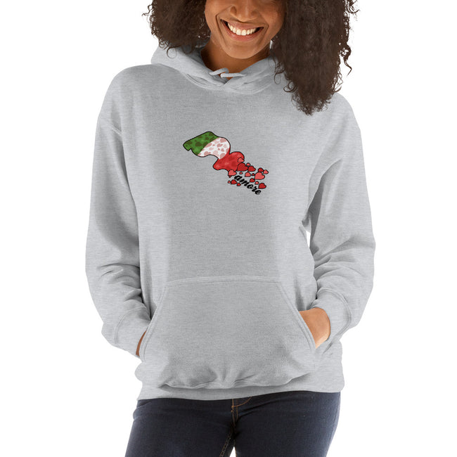 Heart Flag Hooded Sweatshirt