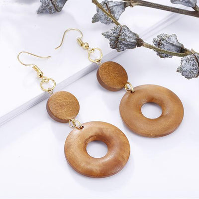 Maxinne Wooden Earrings