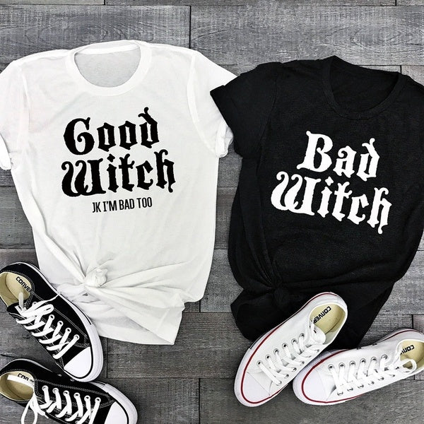 BAD WITCH AND GOOD WITCH T-SHIRT - Diva & noel