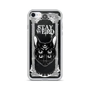 4 eyed gothic cat back covers for iphone - Diva & noel