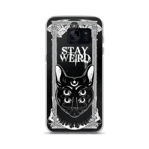 4 eyed gothic cat back covers for Samsung - Diva & noel