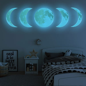 Moon Phases wall sticker - Diva & noel