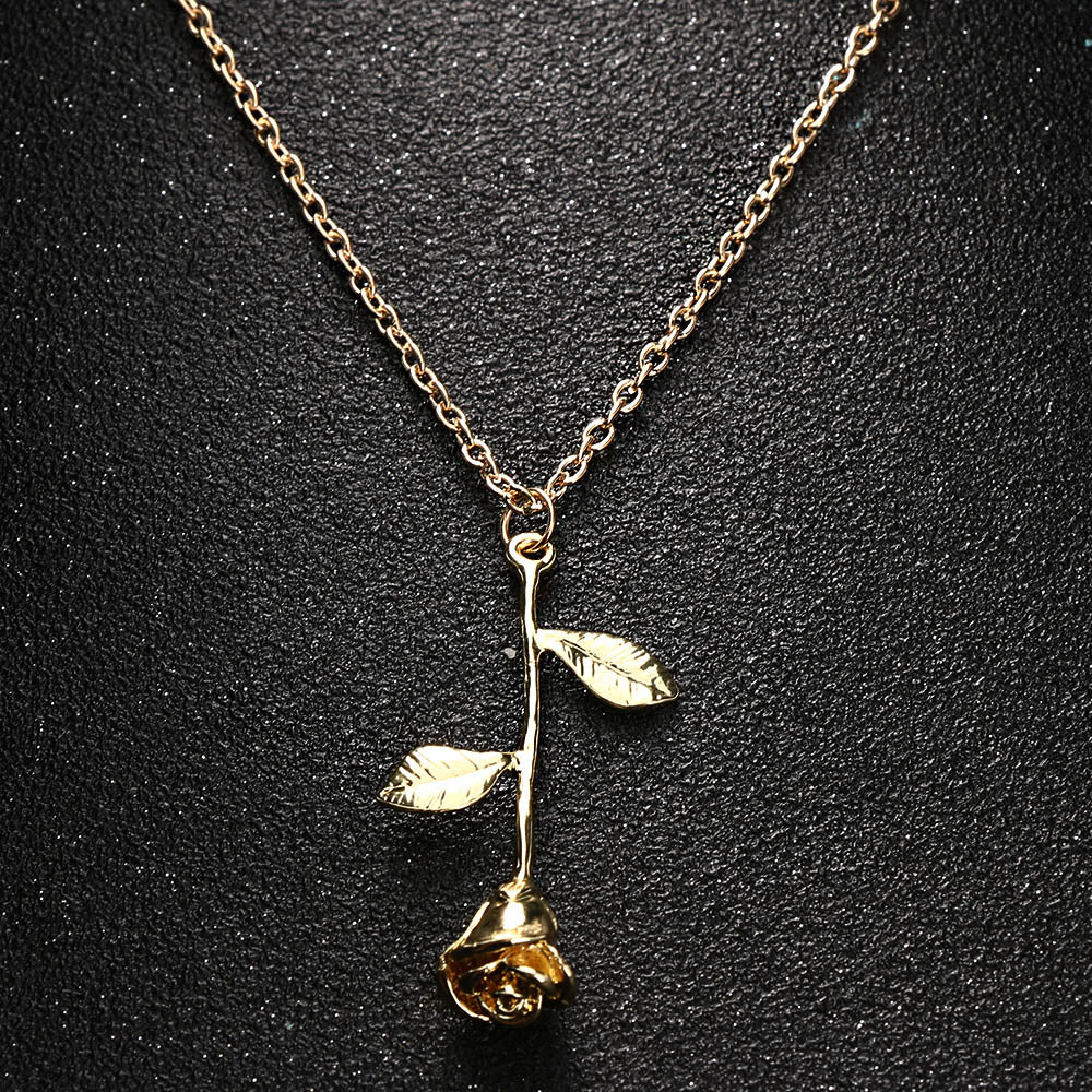 Rose  Pendant Necklace - Diva & noel