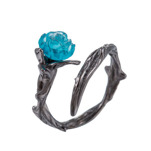 Blue rose ring - Diva & noel