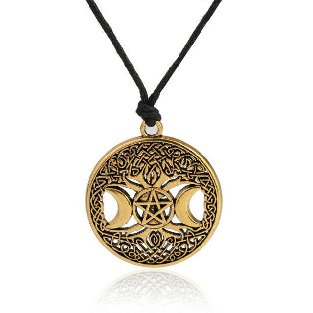 HAEQIS Fashion Vintage Alloy Tree Of life Necklace Amulet David Star Moon Men Necklace FN097 - Diva & noel