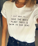 I Just Want To Save The Bees... T-Shirt - Cuppa Tee Store