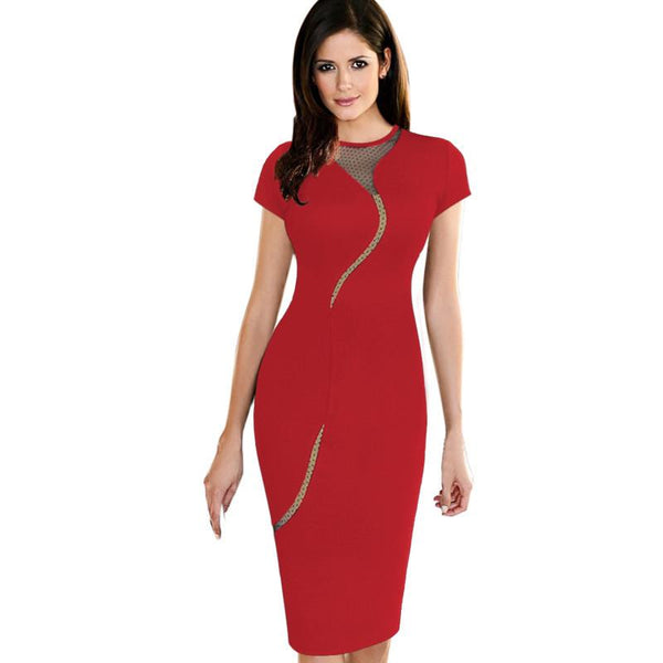 Sexy zippered Sheath Dress