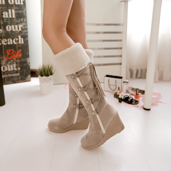 Women's thermal plush boots