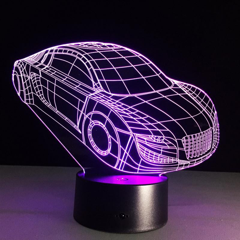 lampe led illusion 3d voiture ledismagic. Black Bedroom Furniture Sets. Home Design Ideas