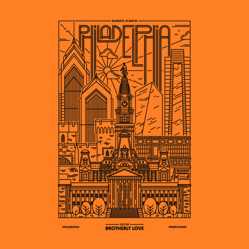 Philadelphia Skyline - Flyers