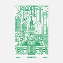 Philadelphia Skyline - Kelly Green 2
