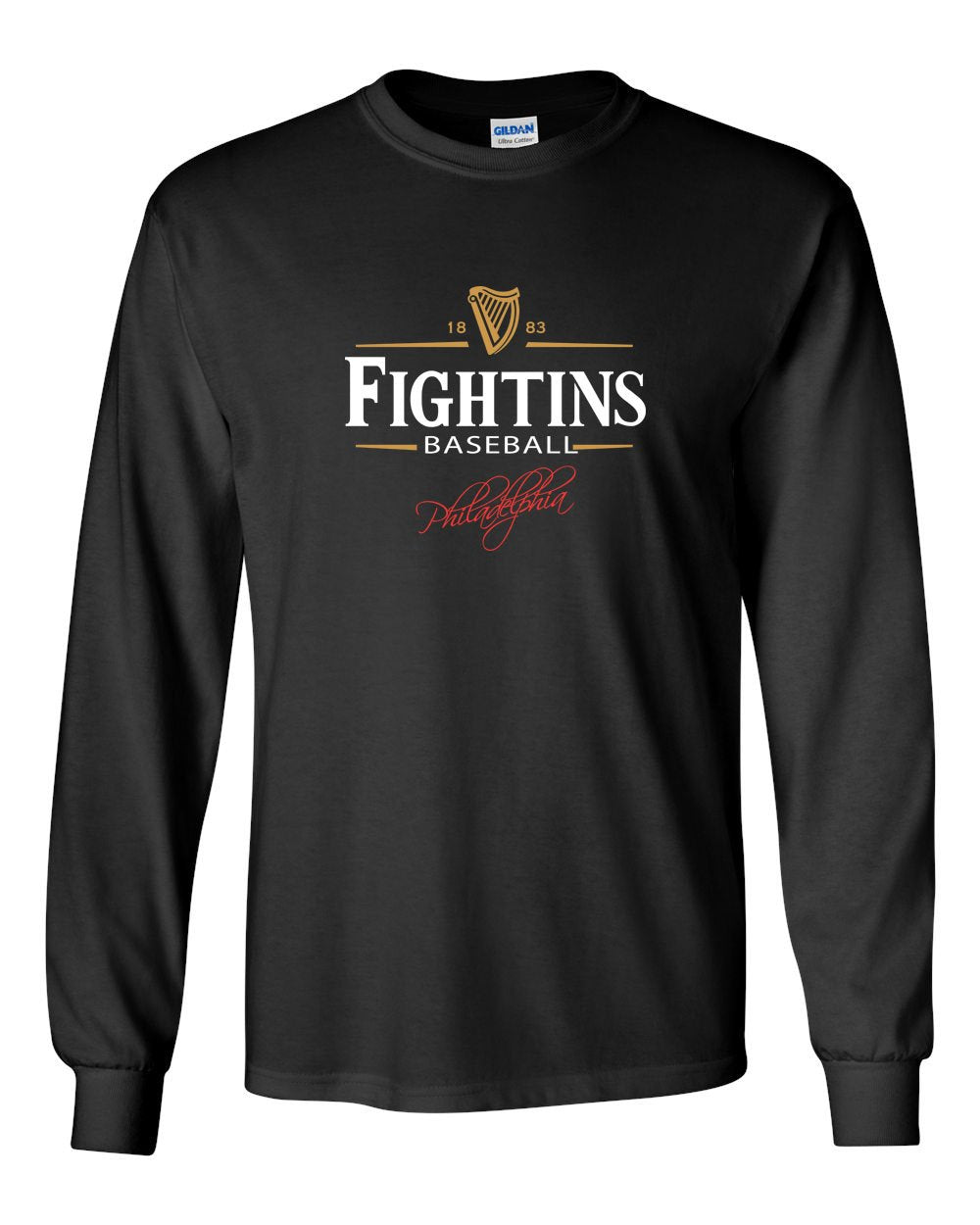 Fightin's Beer MENS Long Sleeve Heavy Cotton T-Shirt