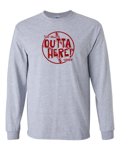 It's Outta Here (Version 2) MENS Long Sleeve Heavy Cotton T-Shirt