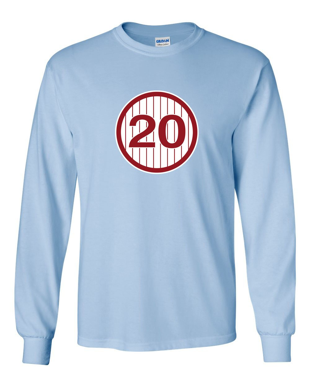 #20 MENS Long Sleeve Heavy Cotton T-Shirt