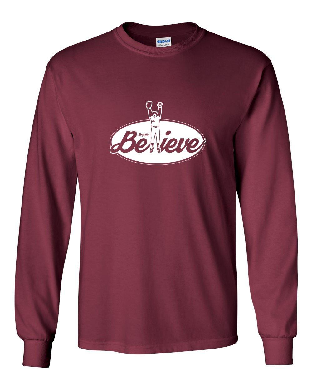 Believe MENS Long Sleeve Heavy Cotton T-Shirt