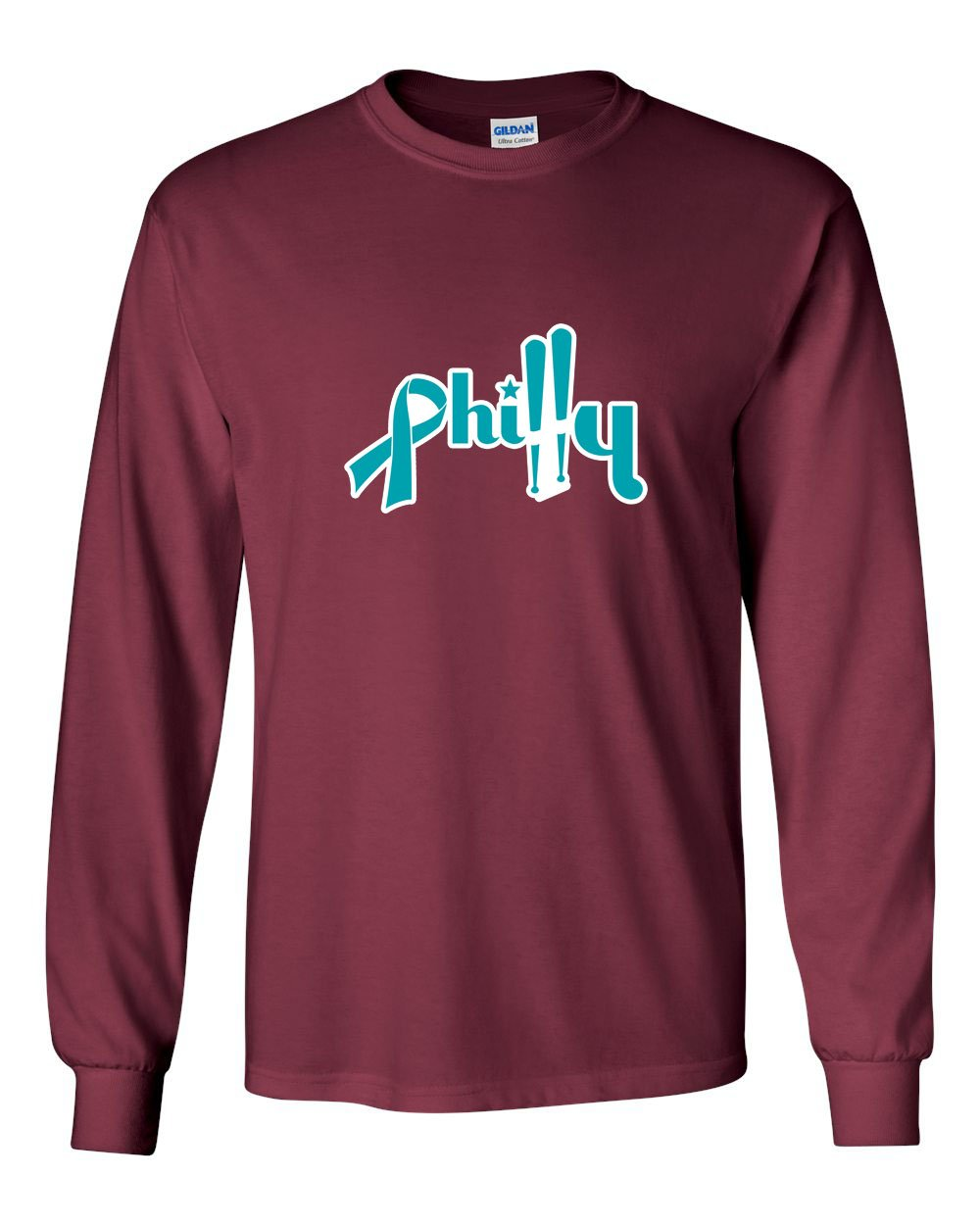 Ovarian Philly MENS Long Sleeve Heavy Cotton T-Shirt