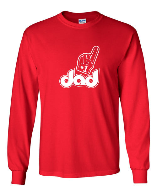 #1 Dad MENS Long Sleeve Heavy Cotton T-Shirt