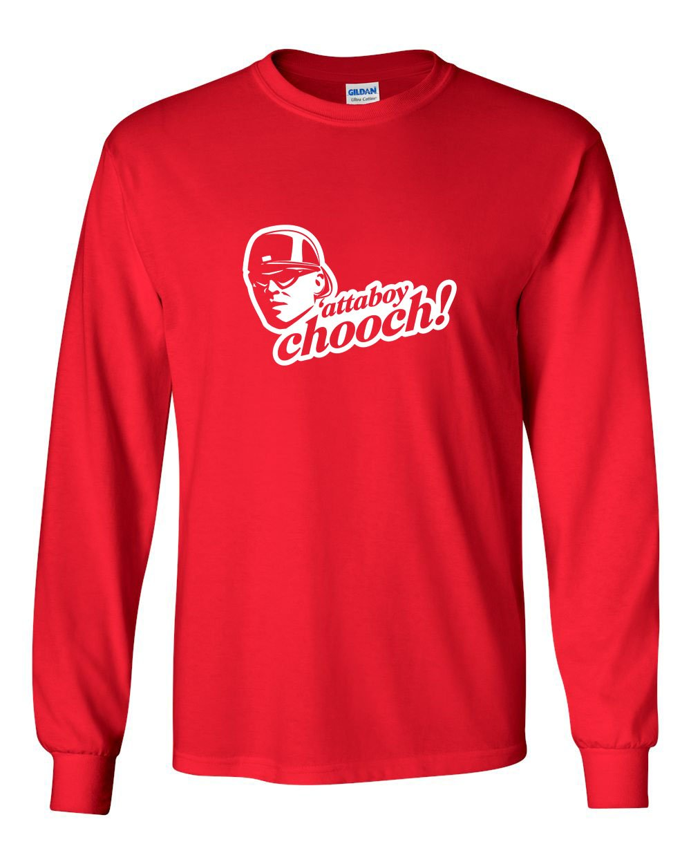 Attaboy Chooch MENS Long Sleeve Heavy Cotton T-Shirt