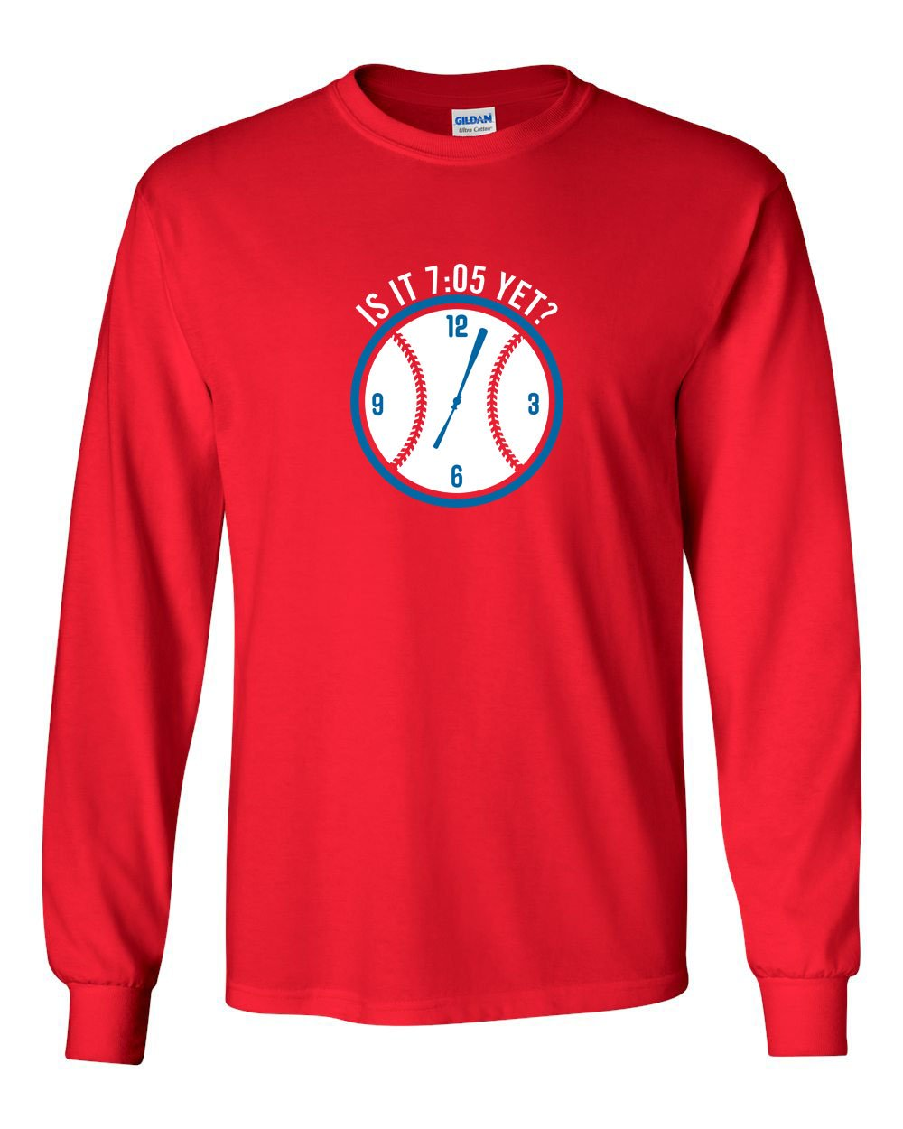 Is it 7:05 Yet? MENS Long Sleeve Heavy Cotton T-Shirt