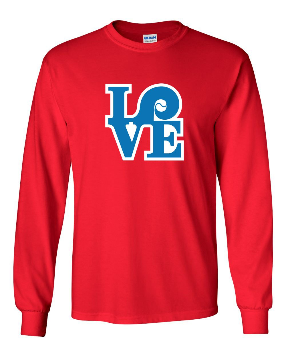 Love Red MENS Long Sleeve Heavy Cotton T-Shirt