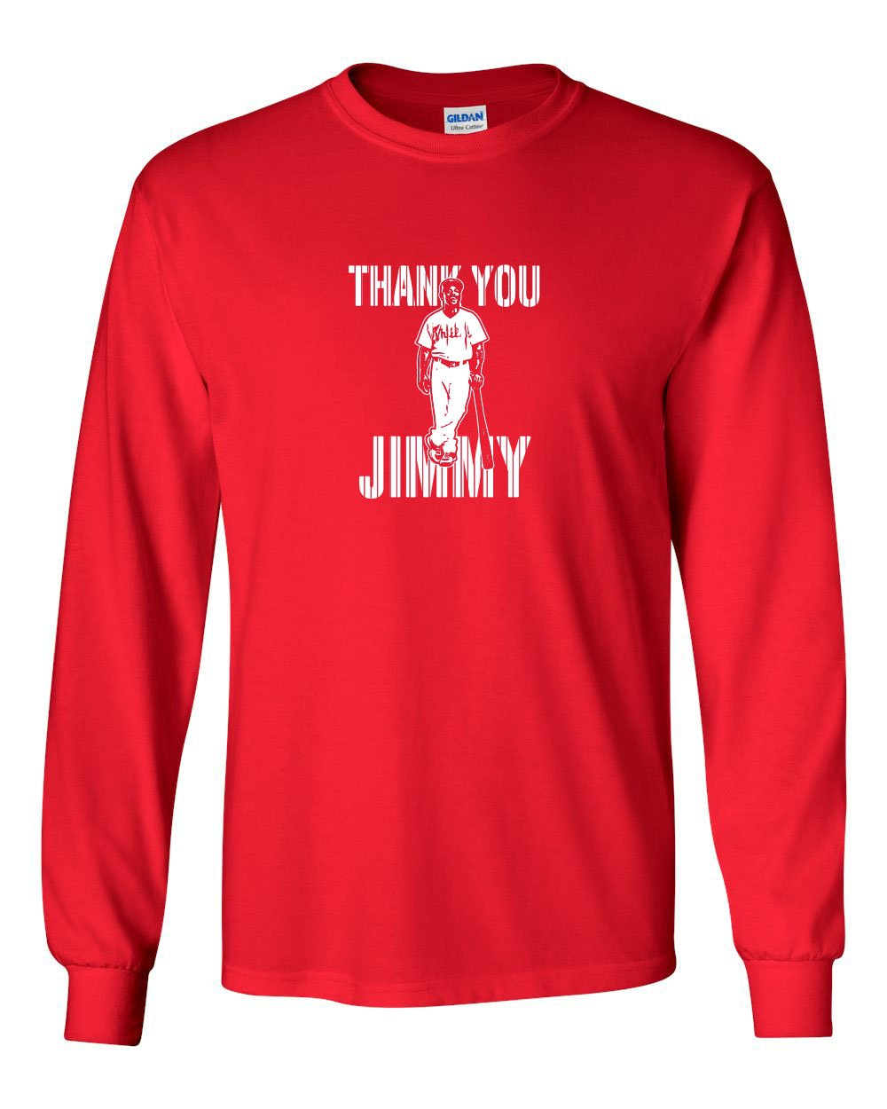 Thank You Jimmy MENS Long Sleeve Heavy Cotton T-Shirt
