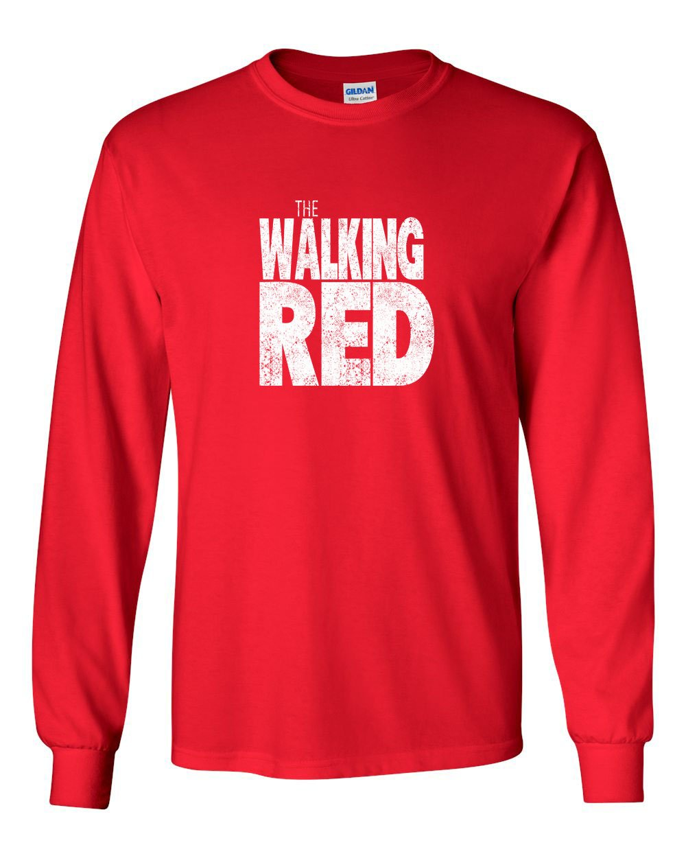 The Walking Red MENS Long Sleeve Heavy Cotton T-Shirt
