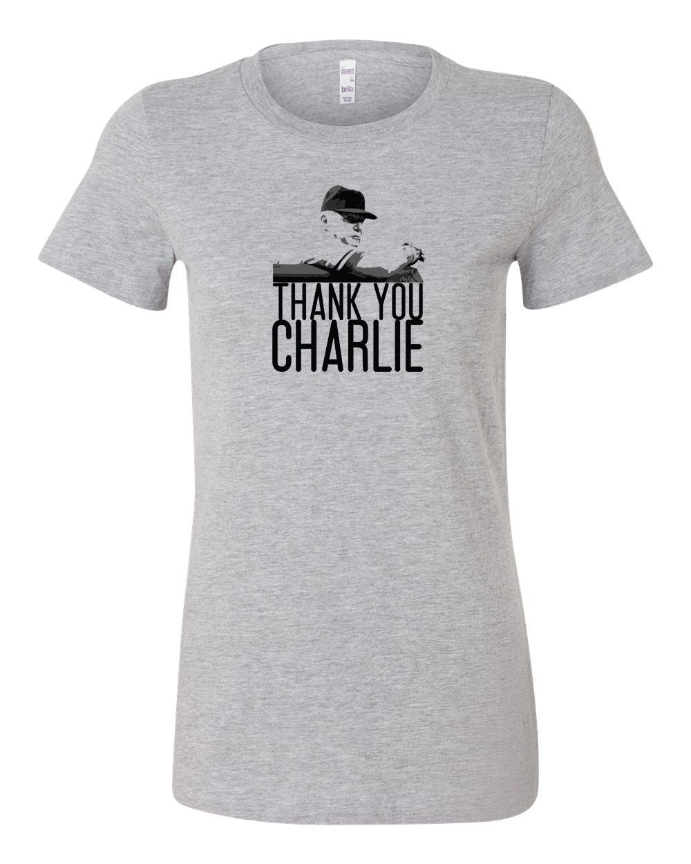 Thank You Charlie LADIES Junior-Fit T-Shirt