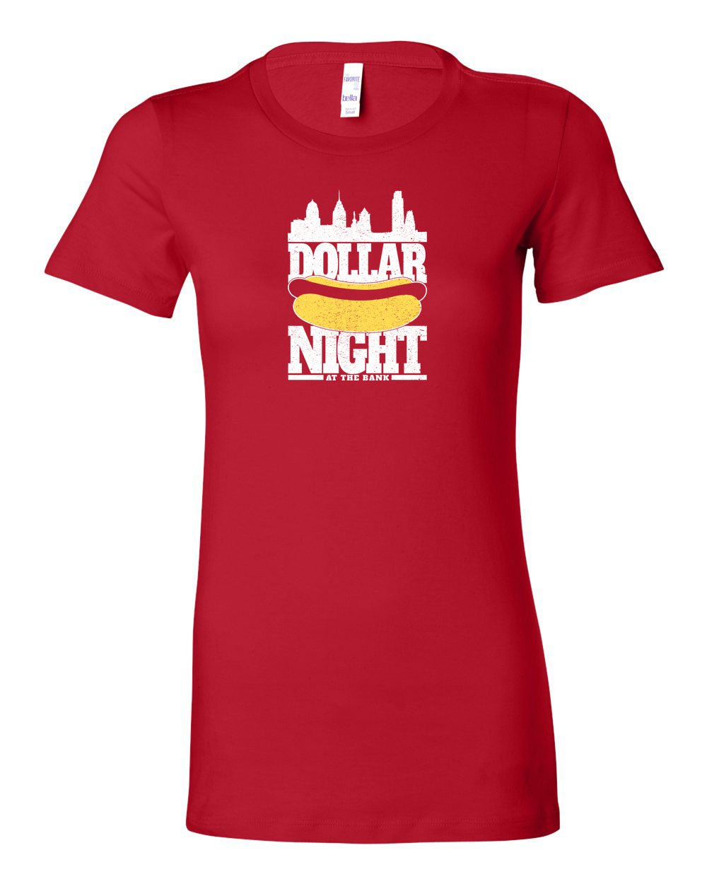 Dollar Dog Night LADIES Junior-Fit T-Shirt
