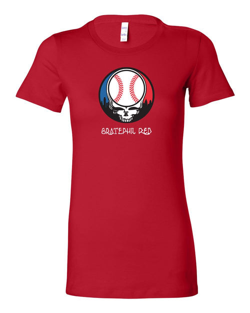 Gratephil Red LADIES Junior-Fit T-Shirt