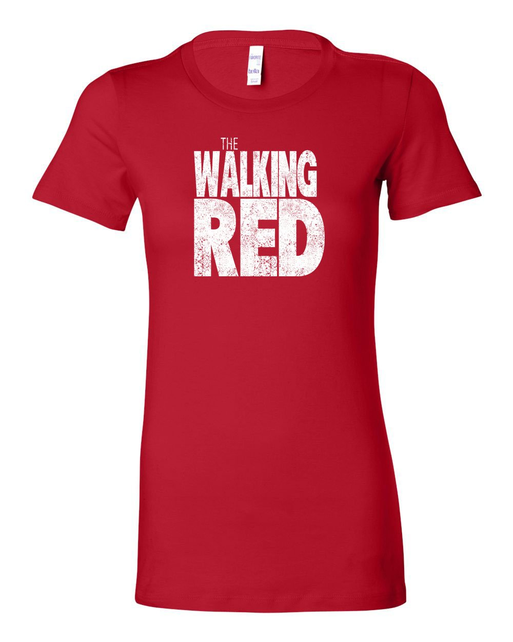 The Walking Red LADIES Junior-Fit T-Shirt