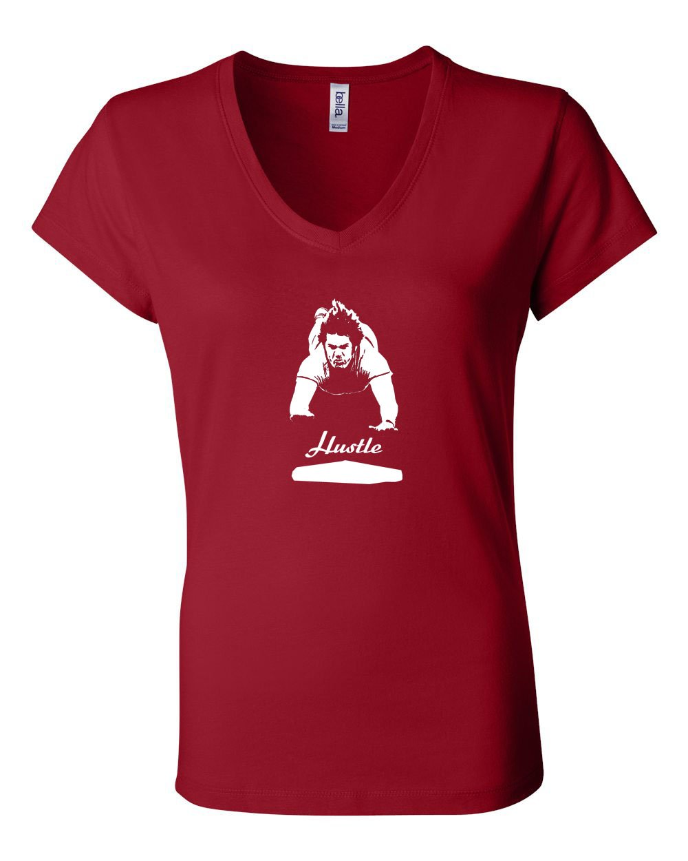 Hustle LADIES Junior Fit V-Neck
