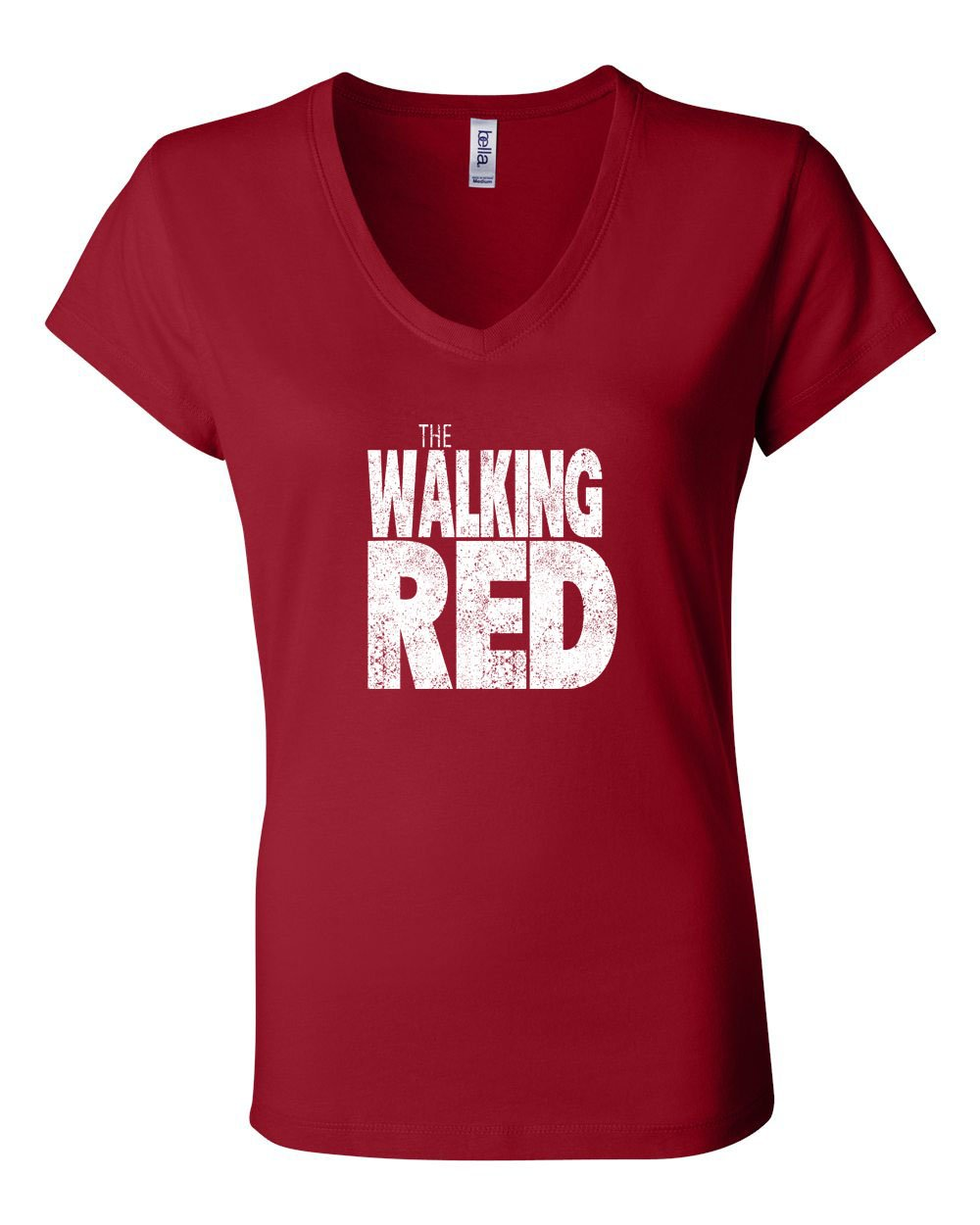 The Walking Red LADIES Junior Fit V-Neck