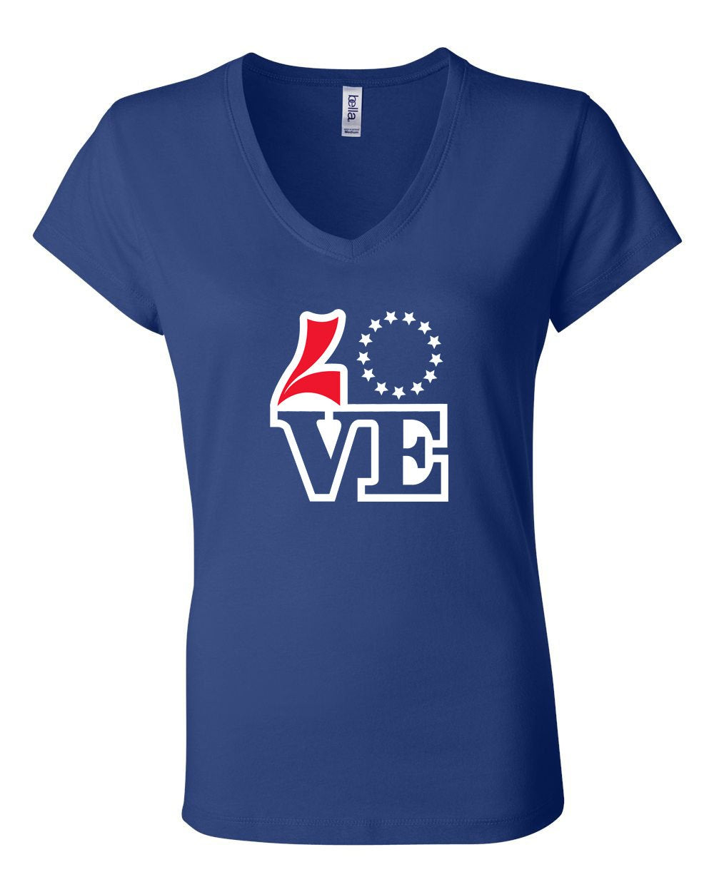 Love Basketball LADIES Junior Fit V-Neck