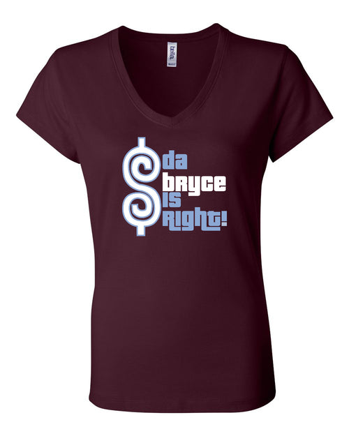 Bryce is Right LADIES Junior Fit V-Neck