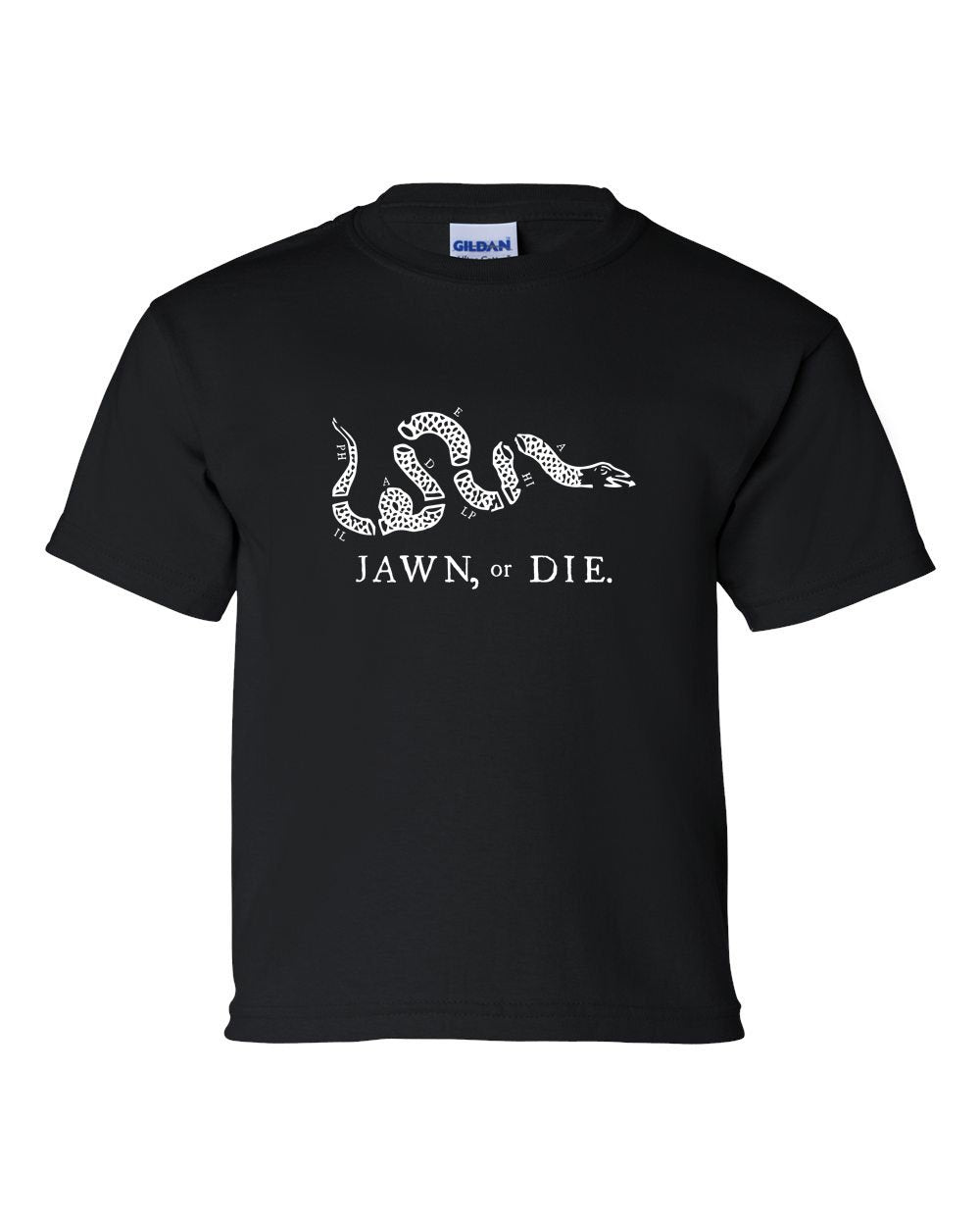 Jawn or Die White Ink (On Black) KIDS T-Shirt