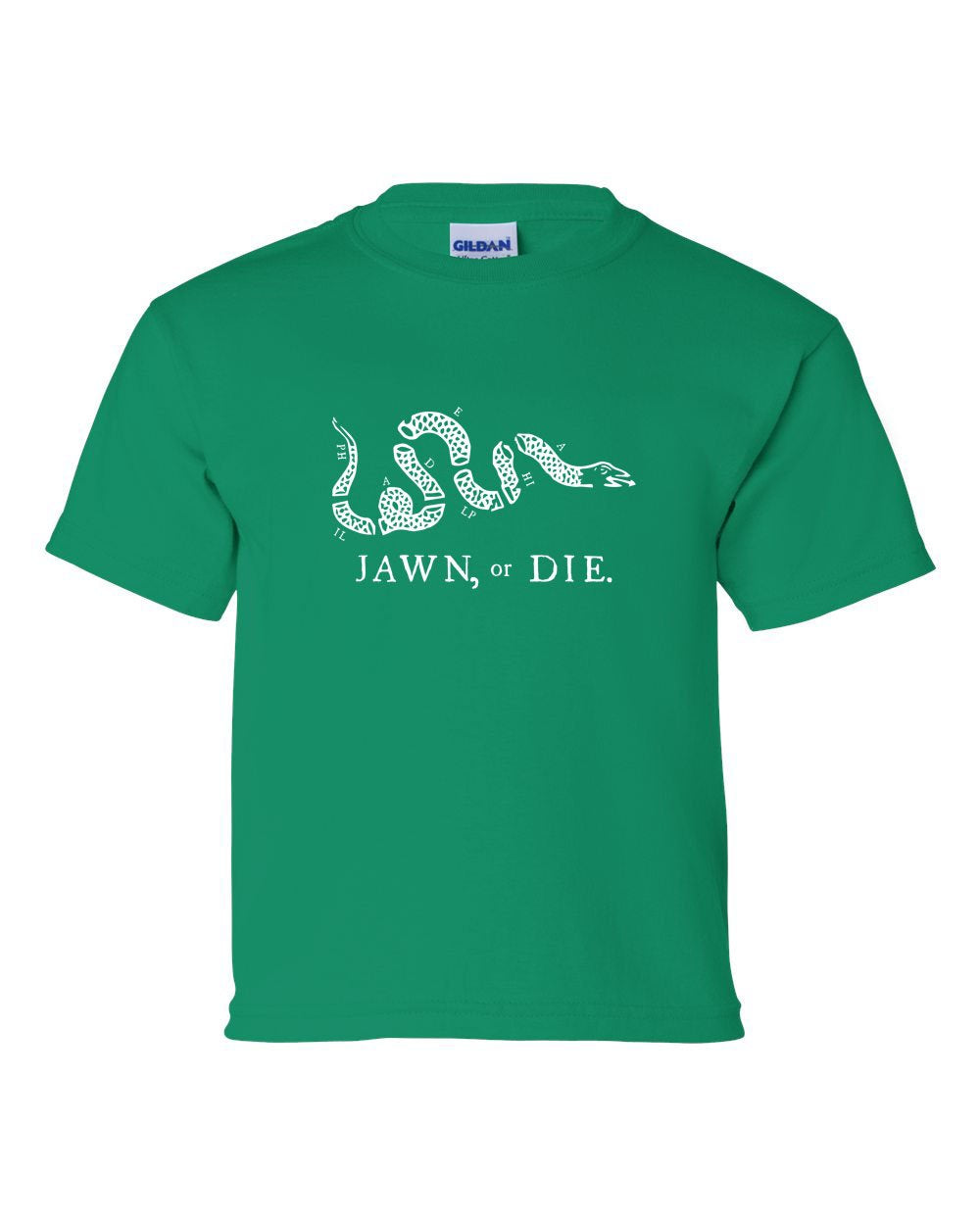 Jawn or Die White Ink KIDS T-Shirt