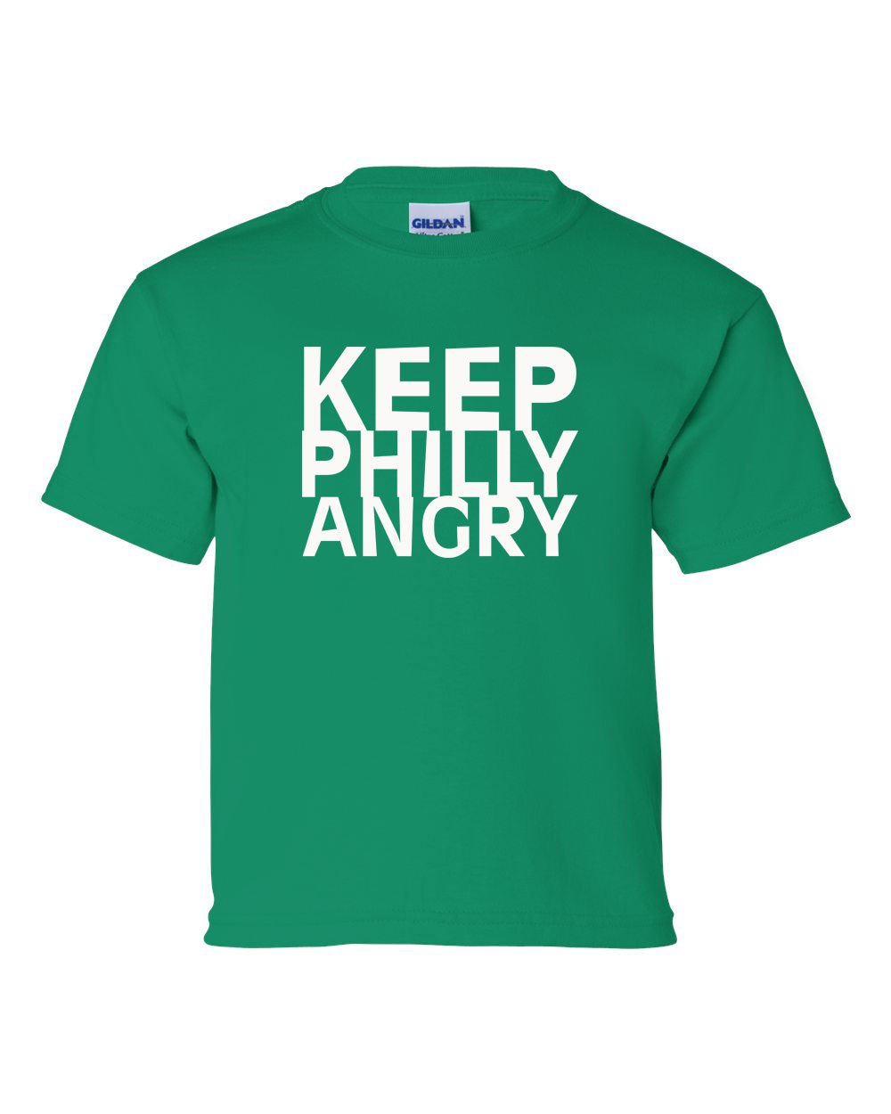 Keep Philly Angry White Ink KIDS T-Shirt