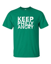 Keep Philly Angry White Ink Mens/Unisex T-Shirt